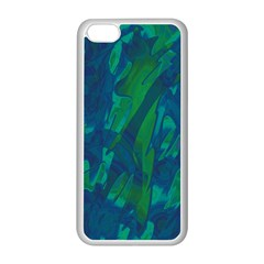 Green And Blue Design Apple Iphone 5c Seamless Case (white) by Valentinaart
