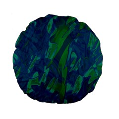 Green And Blue Design Standard 15  Premium Flano Round Cushions by Valentinaart
