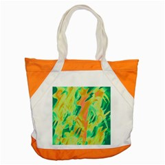 Green And Orange Abstraction Accent Tote Bag by Valentinaart