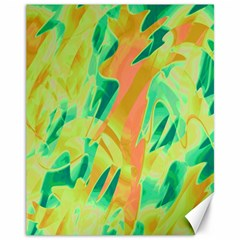 Green And Orange Abstraction Canvas 11  X 14   by Valentinaart