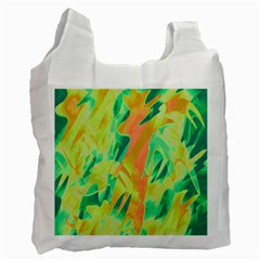 Green And Orange Abstraction Recycle Bag (two Side)  by Valentinaart