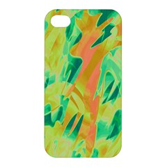 Green And Orange Abstraction Apple Iphone 4/4s Hardshell Case by Valentinaart