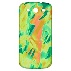 Green And Orange Abstraction Samsung Galaxy S3 S Iii Classic Hardshell Back Case by Valentinaart