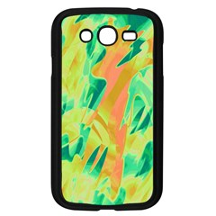 Green And Orange Abstraction Samsung Galaxy Grand Duos I9082 Case (black) by Valentinaart