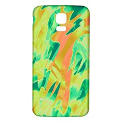 Green And Orange Abstraction Samsung Galaxy S5 Back Case (white) by Valentinaart