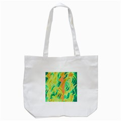 Green And Orange Abstraction Tote Bag (white) by Valentinaart