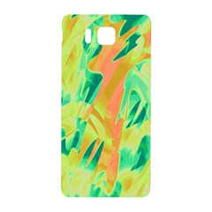 Green And Orange Abstraction Samsung Galaxy Alpha Hardshell Back Case