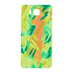 Green and orange abstraction Samsung Galaxy Alpha Hardshell Back Case Front
