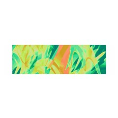 Green And Orange Abstraction Satin Scarf (oblong) by Valentinaart