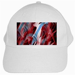 Blue And Red Smoke White Cap