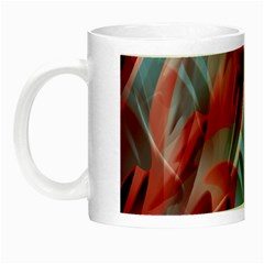 Blue And Red Smoke Night Luminous Mugs by Valentinaart