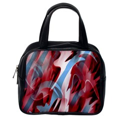 Blue And Red Smoke Classic Handbags (one Side) by Valentinaart
