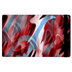 Blue And Red Smoke Apple Ipad 2 Flip Case by Valentinaart