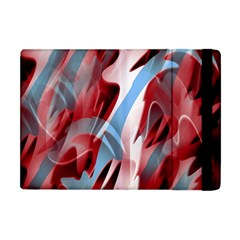Blue And Red Smoke Apple Ipad Mini Flip Case by Valentinaart