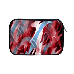 Blue And Red Smoke Apple Ipad Mini Zipper Cases by Valentinaart