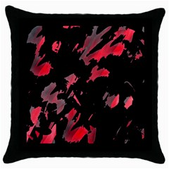 Painter Was Here  Throw Pillow Case (black) by Valentinaart