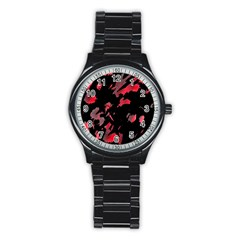 Painter Was Here  Stainless Steel Round Watch by Valentinaart