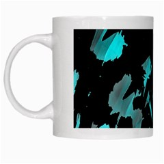 Painter Was Here   Cyan White Mugs by Valentinaart