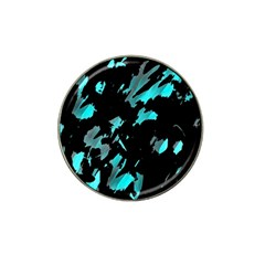 Painter Was Here   Cyan Hat Clip Ball Marker (4 Pack) by Valentinaart