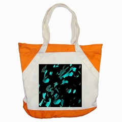 Painter Was Here   Cyan Accent Tote Bag by Valentinaart