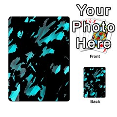 Painter Was Here   Cyan Multi Purpose Cards (rectangle)  by Valentinaart