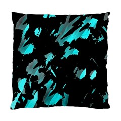 Painter Was Here   Cyan Standard Cushion Case (one Side) by Valentinaart