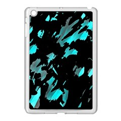 Painter Was Here   Cyan Apple Ipad Mini Case (white) by Valentinaart