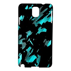 Painter Was Here   Cyan Samsung Galaxy Note 3 N9005 Hardshell Case by Valentinaart