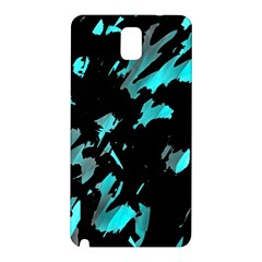 Painter Was Here   Cyan Samsung Galaxy Note 3 N9005 Hardshell Back Case by Valentinaart