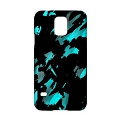 Painter Was Here   Cyan Samsung Galaxy S5 Hardshell Case  by Valentinaart