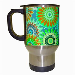 Funky Flowers A Travel Mugs (white) by MoreColorsinLife