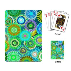 Funky Flowers A Playing Card by MoreColorsinLife
