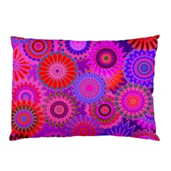 Funky Flowers C Pillow Case by MoreColorsinLife