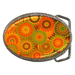 Funky Flowers D Belt Buckles by MoreColorsinLife