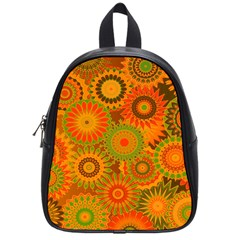 Funky Flowers D School Bags (small)  by MoreColorsinLife