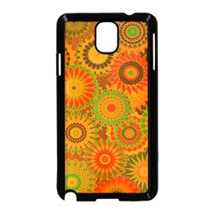 Funky Flowers D Samsung Galaxy Note 3 Neo Hardshell Case (black) by MoreColorsinLife