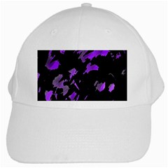 Painter Was Here   Purple White Cap by Valentinaart