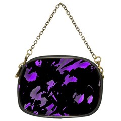 Painter Was Here   Purple Chain Purses (one Side)  by Valentinaart