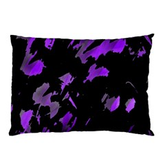 Painter Was Here   Purple Pillow Case by Valentinaart