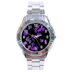 Painter Was Here   Purple Stainless Steel Analogue Watch by Valentinaart