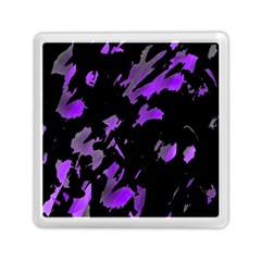 Painter Was Here   Purple Memory Card Reader (square)  by Valentinaart