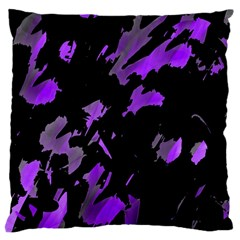 Painter Was Here   Purple Large Cushion Case (one Side) by Valentinaart