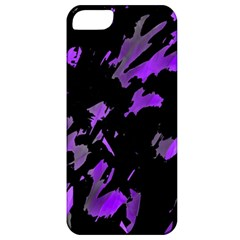 Painter Was Here   Purple Apple Iphone 5 Classic Hardshell Case by Valentinaart