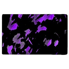 Painter Was Here   Purple Apple Ipad 2 Flip Case by Valentinaart