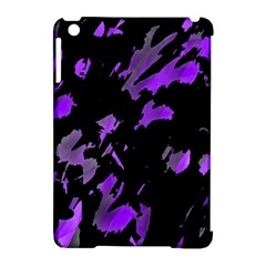 Painter Was Here   Purple Apple Ipad Mini Hardshell Case (compatible With Smart Cover) by Valentinaart
