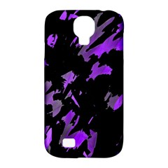 Painter Was Here   Purple Samsung Galaxy S4 Classic Hardshell Case (pc+silicone) by Valentinaart
