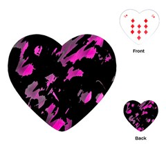 Painter Was Here   Magenta Playing Cards (heart)  by Valentinaart