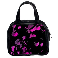 Painter Was Here   Magenta Classic Handbags (2 Sides) by Valentinaart