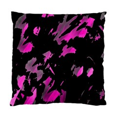 Painter Was Here   Magenta Standard Cushion Case (one Side) by Valentinaart
