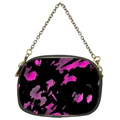 Painter Was Here   Magenta Chain Purses (two Sides)  by Valentinaart